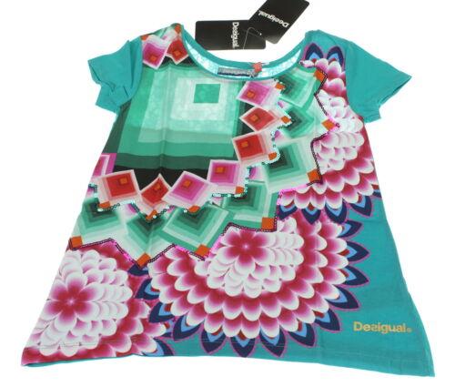 Desigual Mädchen Shirt // T-Shirt NEU türkis-bunt Größe 122-128