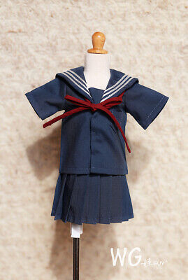 1//4 bjd mdd//msd doll clothes outfit school uniform dress navy dollfie minifee