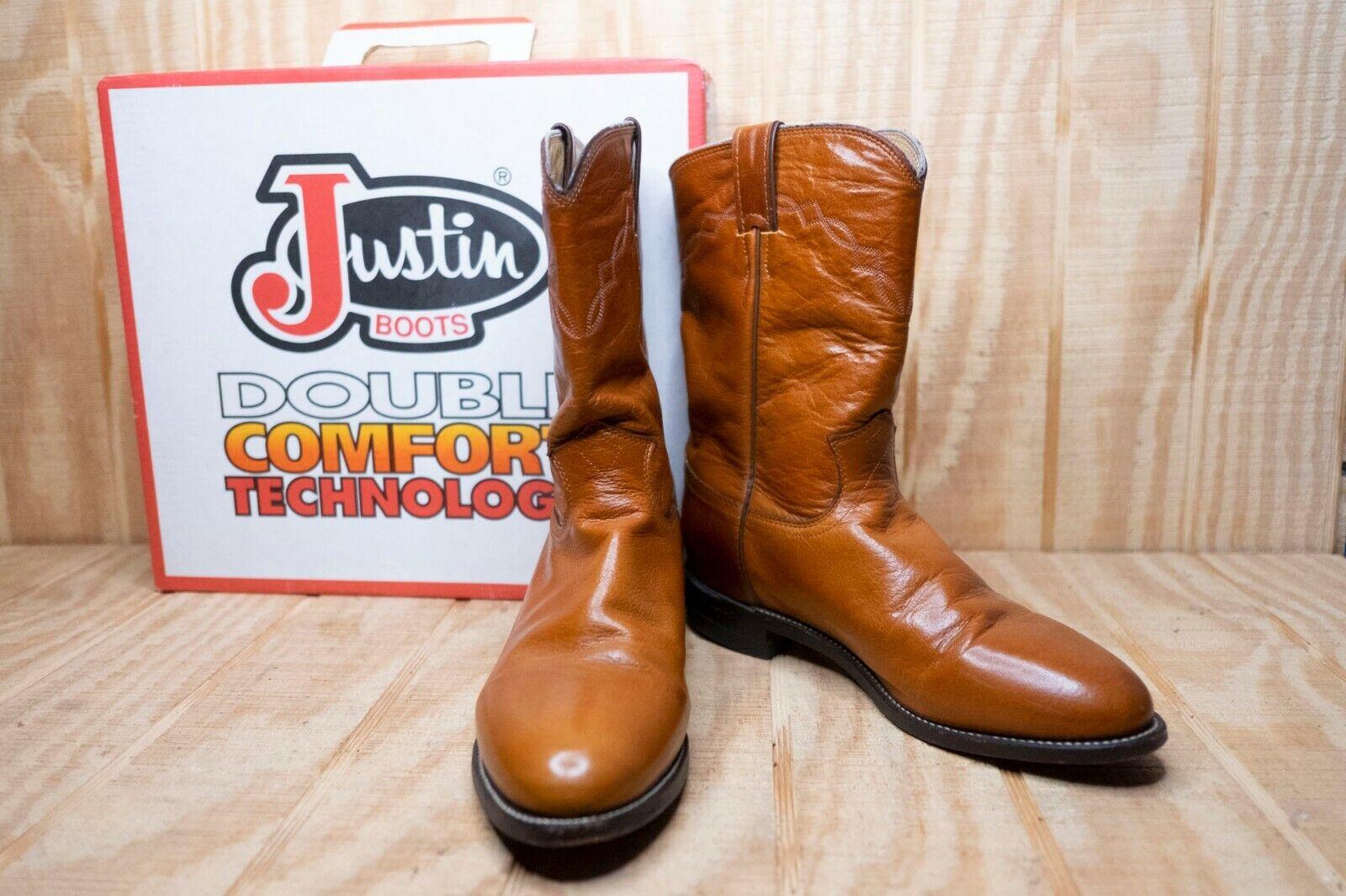 Justin para mujer botas Cómodas de Doble Marrón D Estilo 3438 con una caja