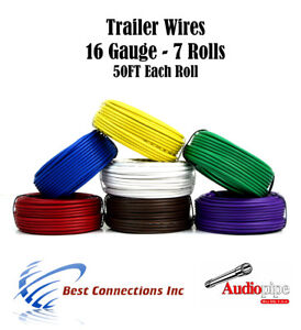 s l300 7 rolls 16 gauge 50 feet trailer light cable wiring harness car
