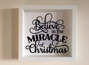 IKEA ribba Box Cadre Vinyle Mur croire dans le miracle de Noël rejoint