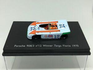 Spark 1:87 Porsche 908/3 Nº12 Vainqueur Targa Florio 1970 Très rare