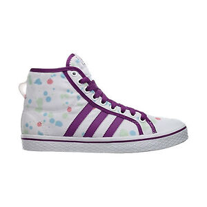 Adidas HONEY STRIPES MID W V24728 Tessuto col. Bianco/Viola SNEAKERS Donna new