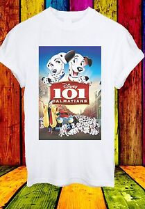 Disney-101-DALMATIENS-Pongo-Perdita-Cruella-De-Vil-Hommes-Femmes-Unisexe-T-shirt-598