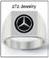 MERCEDES-BENZ-Logo-Signet-Ring-men-sizes-9-thru-12-car-auto-emblem-jewelry thumbnail 1