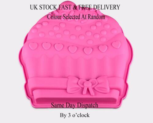 Cake Silicone Muffin Pudding Cupcake Bakeware Pan Mould Baking Tray UK Vincenza