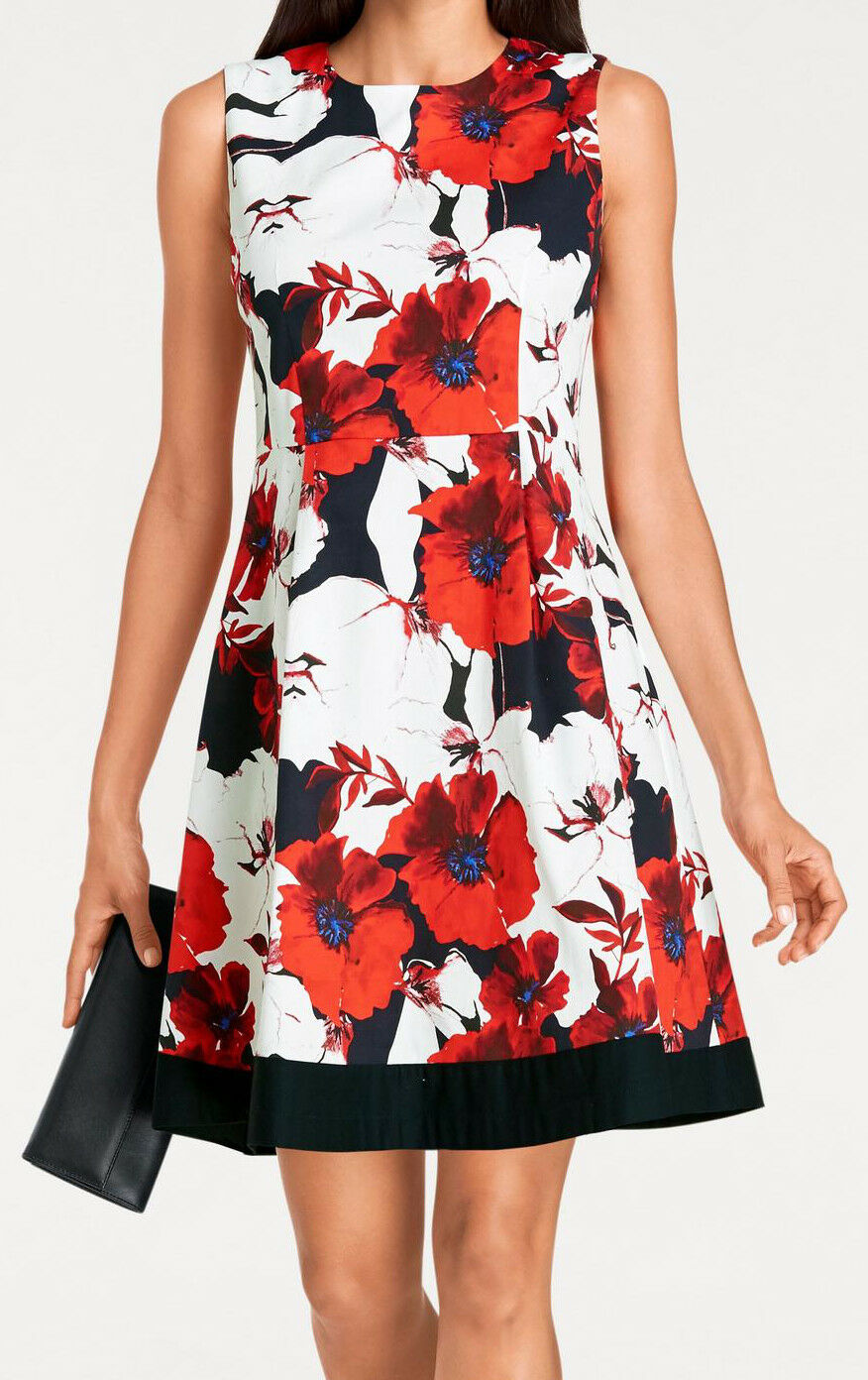 Sommerkleid rot weiß 36 Blaumen Ashley Brooke Heine Mohn schwarz Kleid EDEL NP