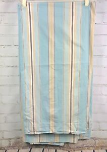 Image Is Loading Pottery Barn Fabric Shower Curtain Blue Stripes 100