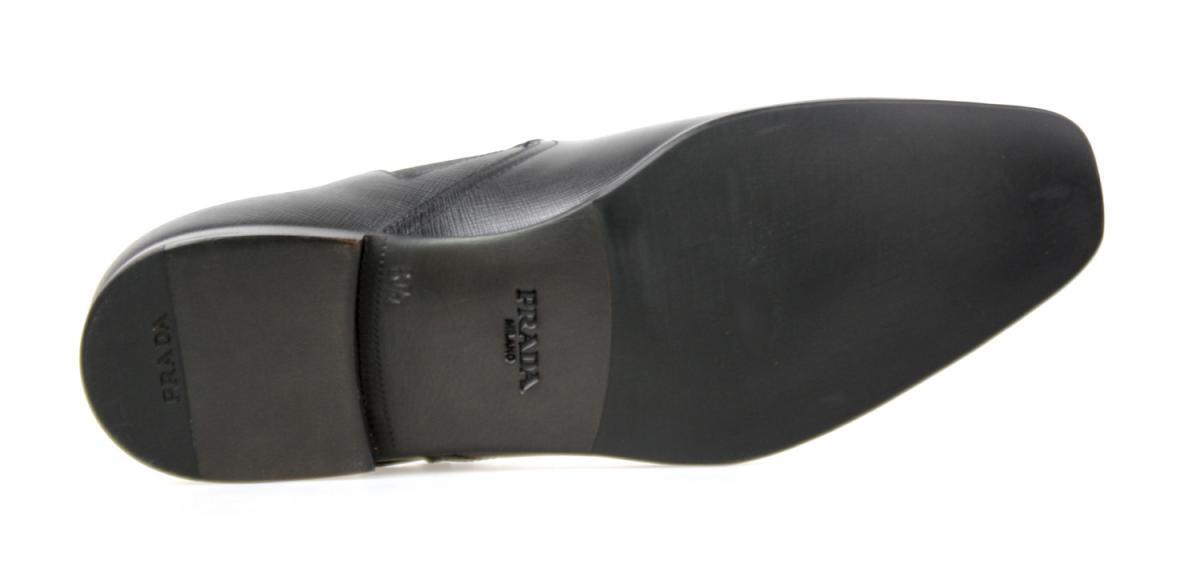 LUXUS PRADA SAFFIANO STIEFELETTE Zapatos 2TB023 Negro NEU NEW NEW NEW 6,5 40,5 41 07752b