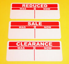 Swing Tag Labels Sticky Labels 30mm Bright Red Reduced Still Fresh Stickers