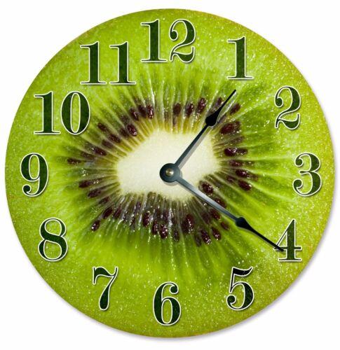 """2087 KIWI FRUIT CLOCK Large 10.5/"""" Wall Clock"""