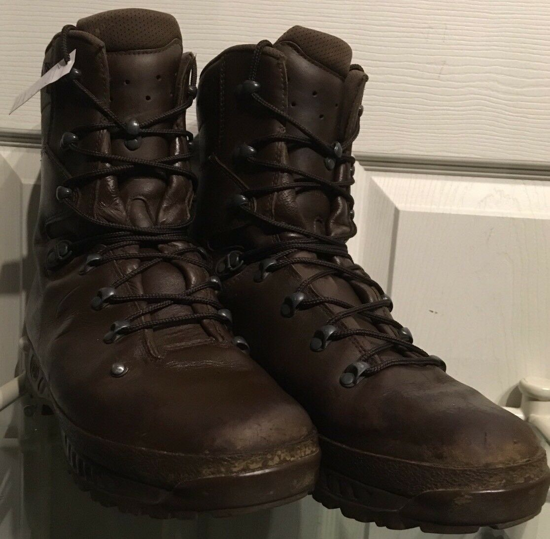 Haix Marrón MTP GoreTex Waterproof Army botas Issue Wet Weather Hiking botas Army 12M HX212M 3c9477