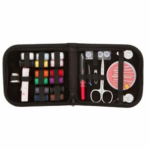 27pcs Travel Home Sewing Kit Case Needle Thread Tape Scissor Button Handcraft