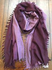 NWT EILEEN FISHER Wool Silk Cashmere Ombre Scarf Wrap Raisenette Purple Ret $118
