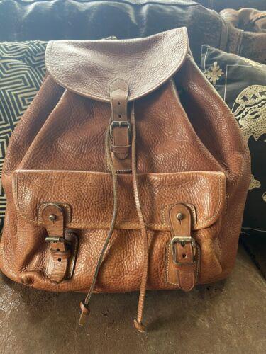banana republic leather backpack