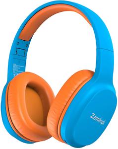 Kinderkopfhörer Bluetooth Over-Ear mit 85db Lautstärkebegrenzung, Faltbar