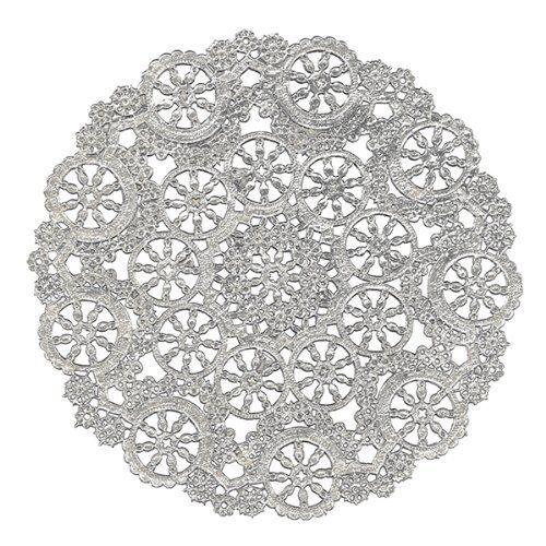 18 Foils per pack Silver 6-Inch B26504 Royal Lace Round Foil Doilies