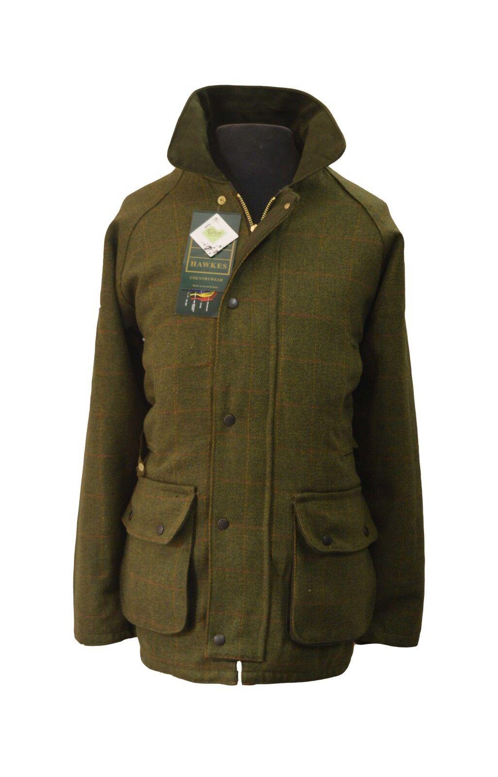 Derby Tweed Caccia Tiro Giacca Cappotto di lana traspirante in teflon teflon in 51de7a