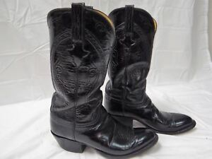 c838518d83c Details about MEN'S LUCCHESE BLACK HOBBY III GOAT CUSTOM HAND-MADE COWBOY  BOOTS L1510