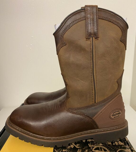 Brown Mens Sz 10 Pull On Work Boots