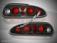 93-02 Chevy Camaro Tail Lights Black G2 01 00 99 98 97 96 95 94