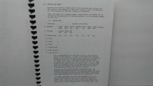 Fanuc 11M-F Conversational Automatic Program Operation Manual