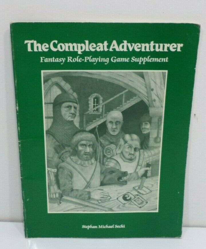 THE COMPLEAT ADVENTURER  AD&D D&D BARD GAMES Wizard Dungeons Dragons Vintage