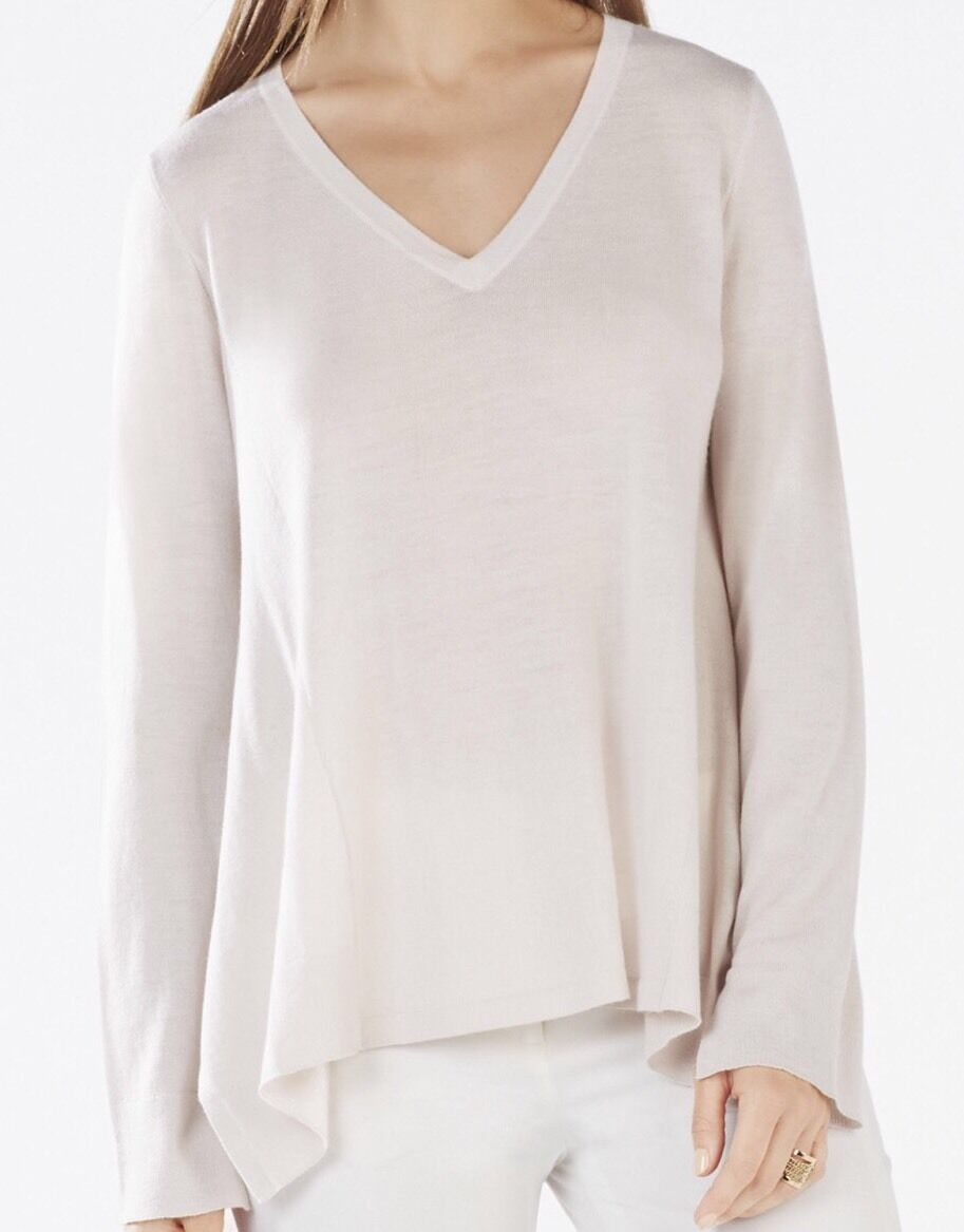 New with tag  198 BCBG Max with Marianne Long-Sleeve High-Low B2648 Sweater SzXs