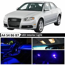 21x Blue Interior LED Lights Package Kit for 2002-2008 Audi A4 S4 B6 B7 Sedan