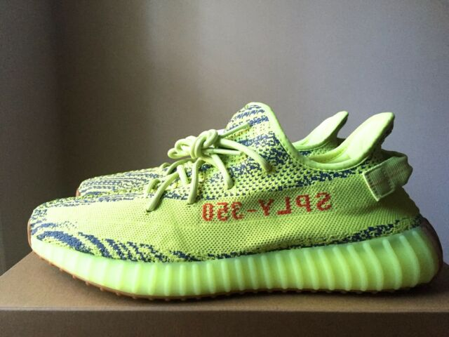 3f5776b173d Adidas Yeezy 350 Boost V2 Semi Frozen Yellow B37572 RARE SIZE 14.5 AUTHENTIC