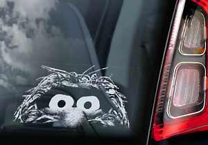 Animal-Voiture-Fenetre-Sticker-The-Muppet-Show-Peeper-Dessin-Anime-Signe