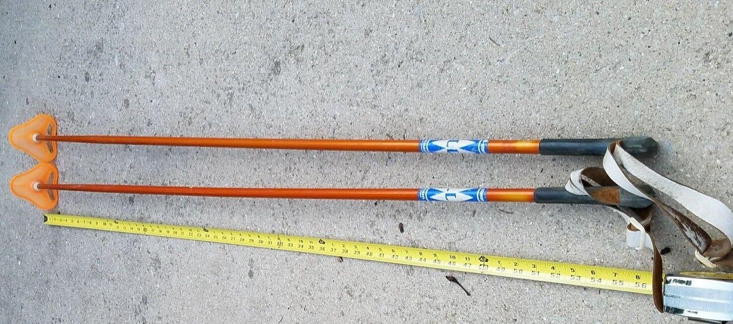 Vintage Set Liljedahl Ski Poles Made Norway Rare Vintage Winter VTG 55  Sports