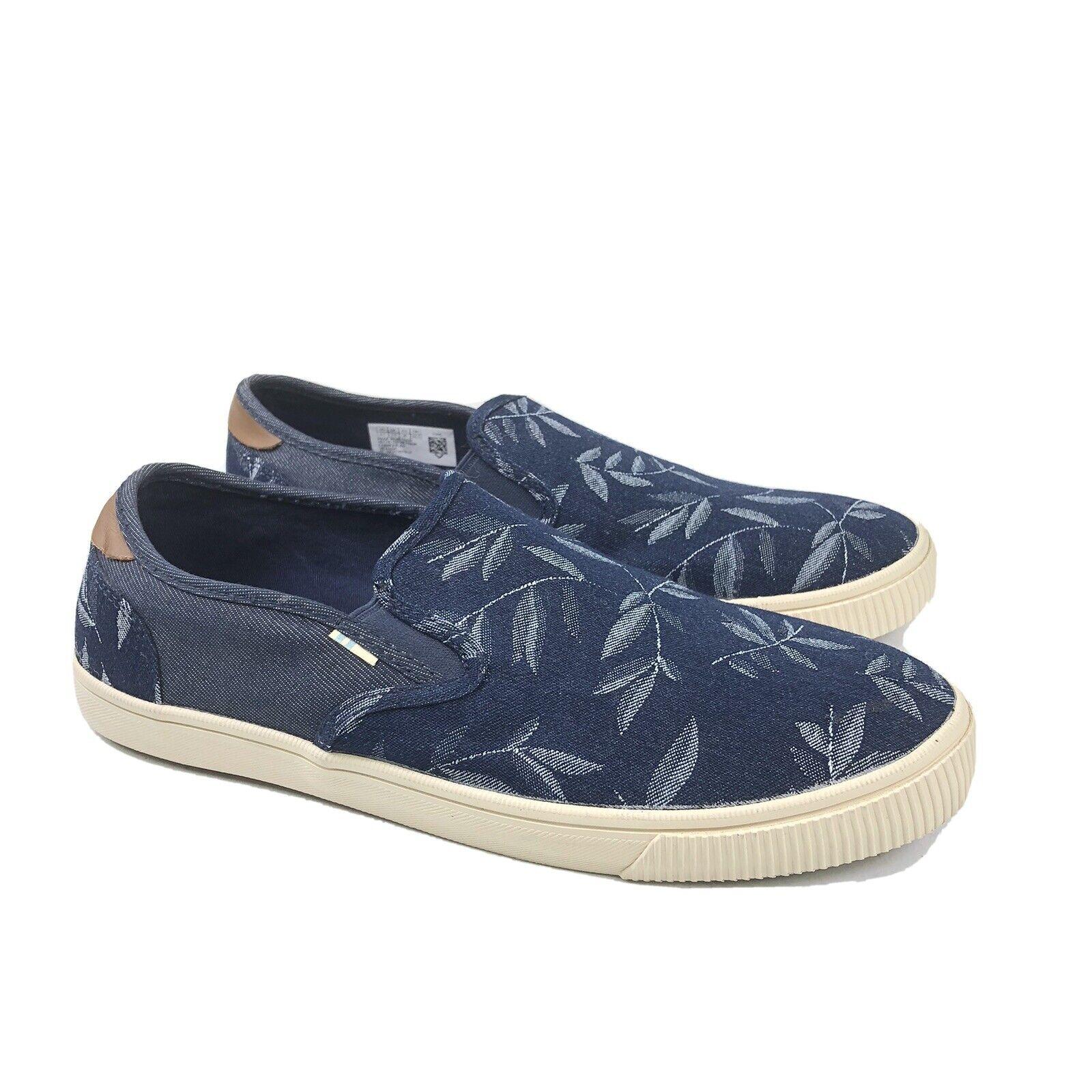 Toms Mens Baja Leaf Print Slip On Shoes Size 8.5M