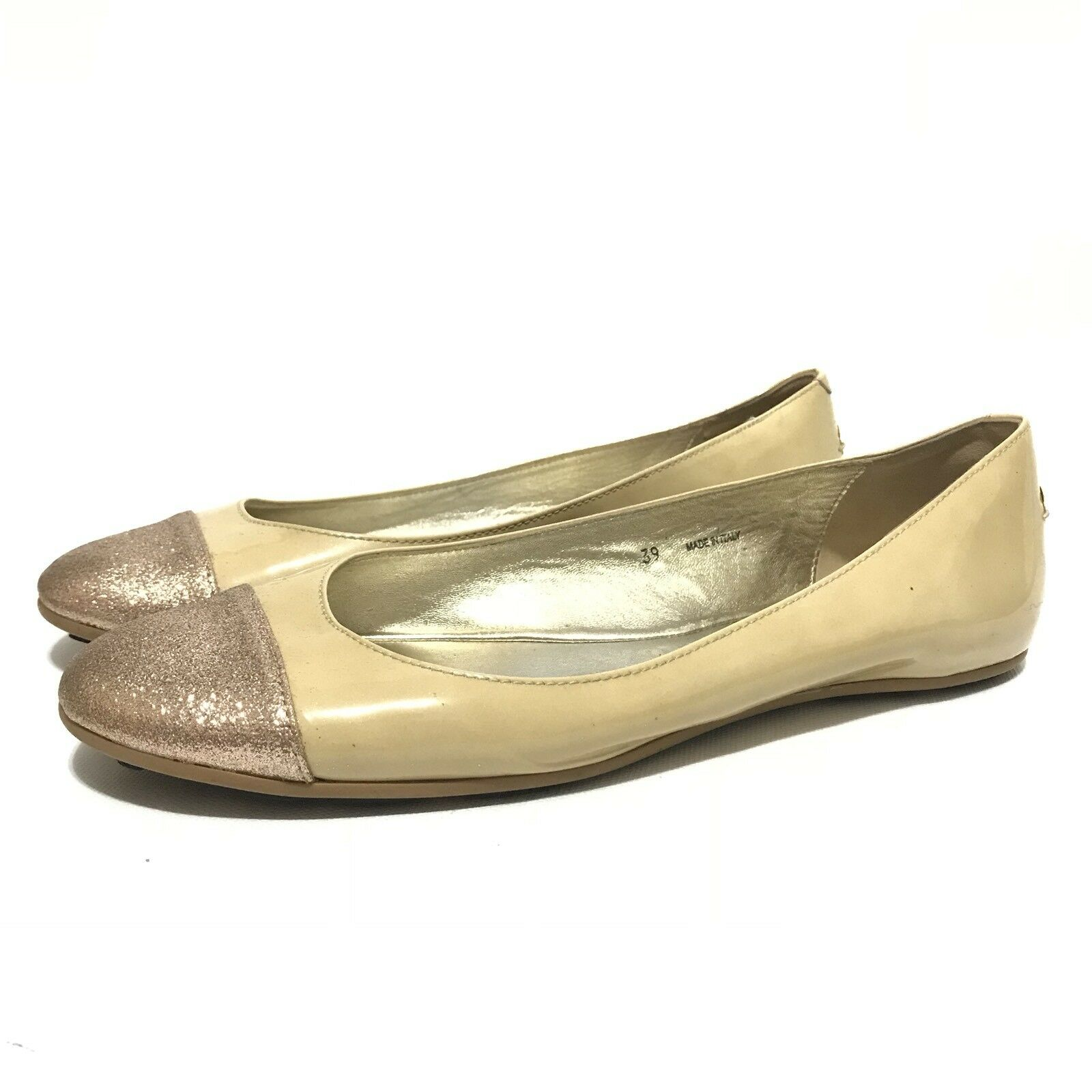 Jimmy Choo Flats Größe 39 Ballet Round Rubber Sole Walking Office Wear Light Toe