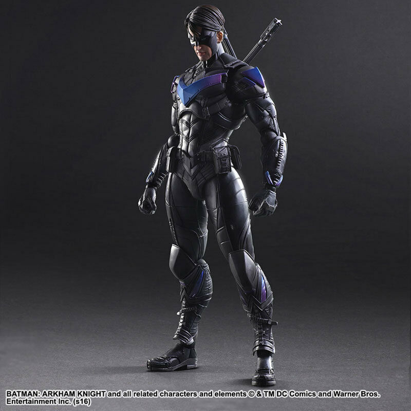 Play Arts Kai Batman Arkham Knight Nightwing PVC Action Figure New In Box