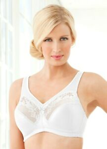 MAGIC-UPLIFT-45-Bra-44F-44-F-MINIMIZER-Support-FULL-FIGURE-White-Lace-NEW
