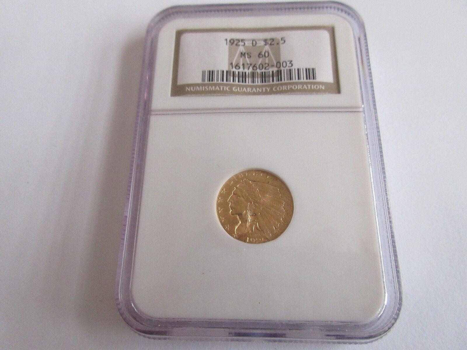 1925-D , Indian Head , $2.50 Gold Quarter Eagle , NGC ,