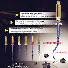 6pcs Dental Endodontic Niti Engine Use Heat Activated Rotary Files 192125mm