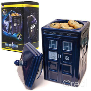 New-Doctor-Who-Ceramic-TARDIS-Cookie-Jar-Biscuit-Tin-With-Lid-Kitchen-Official