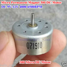 Micro 300 Motor DC 9V-12V Permanent Magnet Small Mini Round Motor for DIY Parts