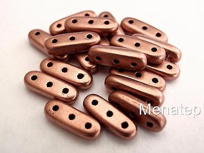 Oxidized Bronze 25  3 x 10 mm Czechmates Beam