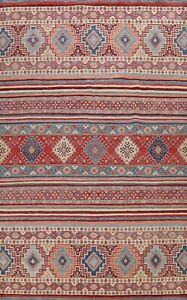 Vegetable Dye Tribal Super Kazak Oriental Area Rug Hand-knotted Dining Room 9x12