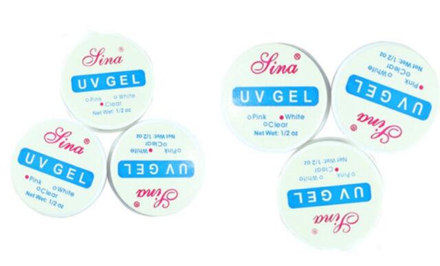 Clear White Pink Color Pro UV Gel Nail Art Primer Base Top Coat Builder Decor GA