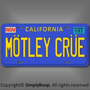 Motley-Crue-Los-Angeles-California-Prop-Relica-Vanity-License-Plate-Tag-6-034-x12-034