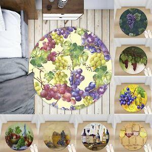 Retro-Grape-Wine-Non-slip-Round-Soft-Area-Rug-Floor-Carpet-Door-Mat-Home-Decor
