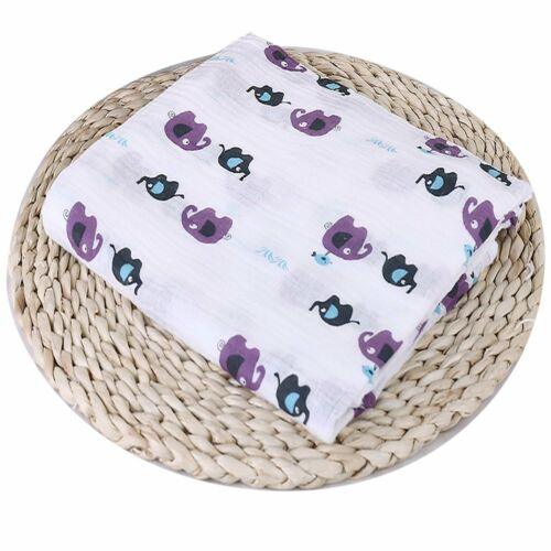 Muslin Cotton Newborn Infant Swaddle Baby Soft Blanket Parisarc Wrap Bath Towel