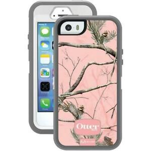 separation shoes 9634f d363e Details about OtterBox Defender Series iPhone SE 5/5s Case - Realtree Camo  AP Pink