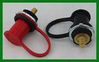 Battery Jumper Terminals Black & Red Color Coded Rubber Cap, Solid Brass Studs