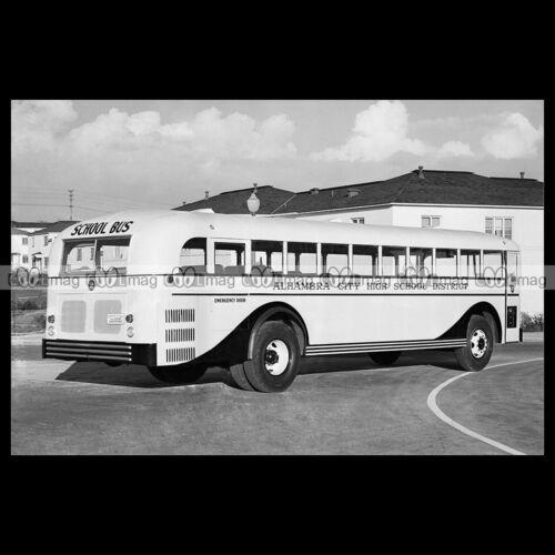 #pha.000905 Photo CROWN SUPERCOACH BUS ALHAMBRA CITY HIGH SCHOOL 1940 Auto Car