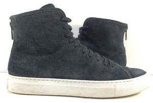 Common-Projects-Black-Suede-High-Top-Fashion-Sneakers-Womens-Size-EUR-35M
